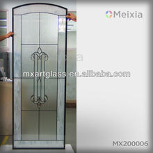 mx200006 china wholesale customized interior stained glass door insert for home decoration piece