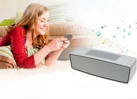 2016 Latest corporate gift dual stereo surround sound audio wireless portable bluetooth speakers