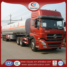 China fuel semi-trailer truck 3axle chemical tanker trailer/truck