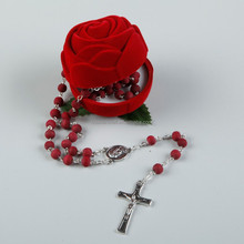 Factory Directly round wooden rose scented rosary antique wood rosary