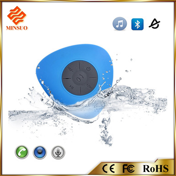 Shenzhen factory promotion waterproof mini bluetooth speaker with led light