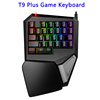 Original DELUX T9 Plus Wired Mechanical Mouse Keyboard Gaming with 3-Mode LED Backlight