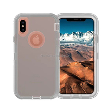 pc tpu phone back cover for iphone X clear armor rugged case for iphone X