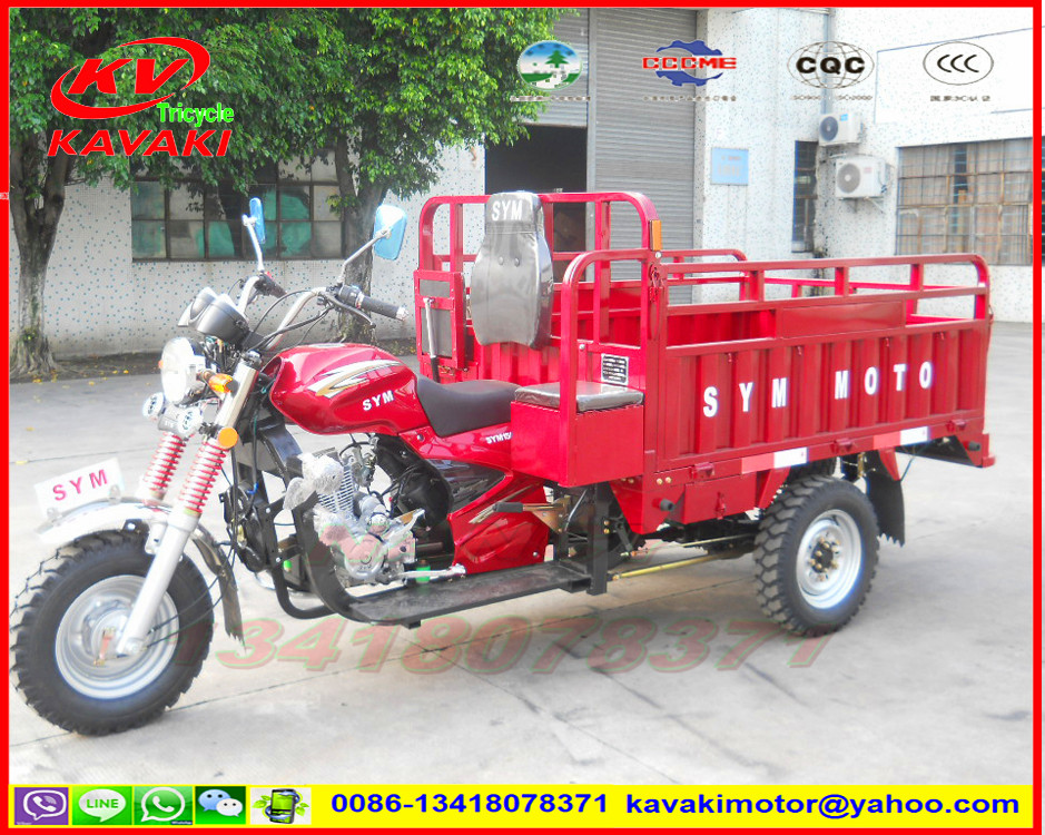 KAVAKI MOTOR sale to sudan market with CIQ CCC 200CC stronger carry tricycle pedicab rickshaw