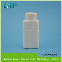 250ml Rectangular Pill Medicine Plastic HDPE Bottle