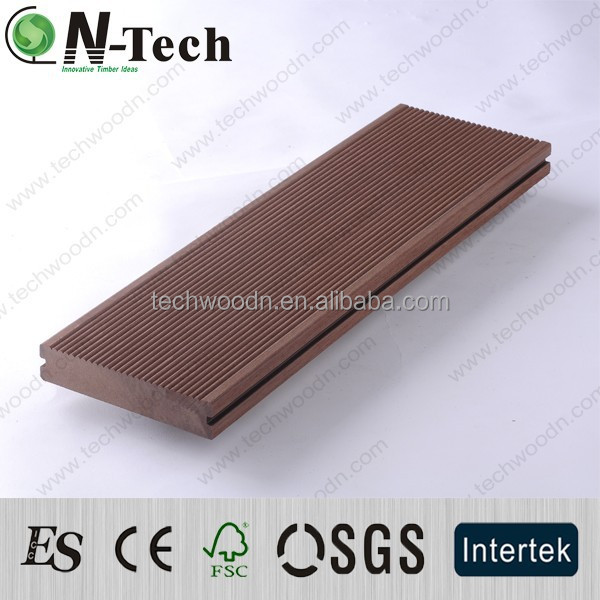 Garden flooring water proof WPC outdoor decking which is suitable for puiblic site