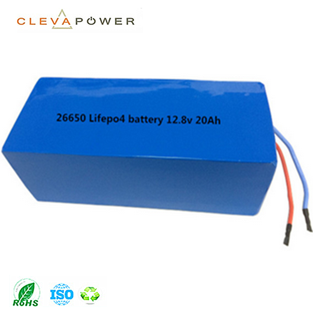 Cleva lithium 26650 rechargeable 12v 20ah lifepo4 battery pack for solar street light