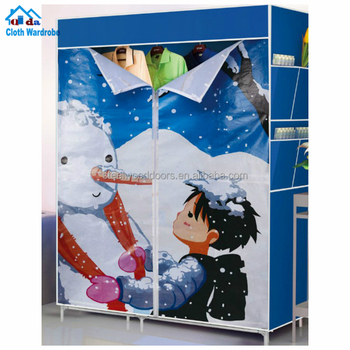 Home storage folding Portable Non-woven foldable cloth Rack