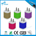 2017 New Cheap 5V 2A Metal US EU UK Plug Dual Usb Travel Charger For Phone