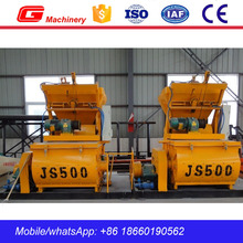 Manual concrete mixer machine JS500 cement mixer mini batch concrete mixer