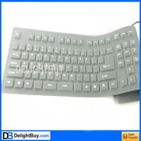 109key Flexible Silicone Rubber PC Keyboard