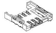 SIM Connectors : 533 Series 6 contacts Height 2,8mm SMT Type