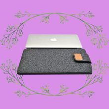 Creative PU belt tablet 15inch womens laptop case for ipad air