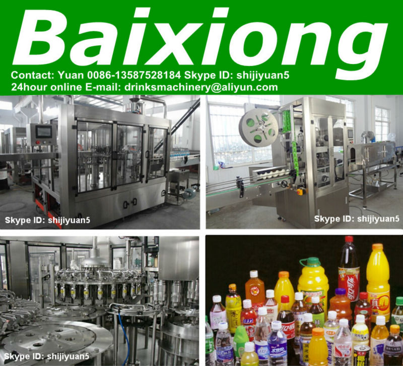 We supply full automatic bottle washing filling capping machine (Hot sale)