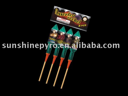 Hot sale red devil rocket firework for pyrotechnics