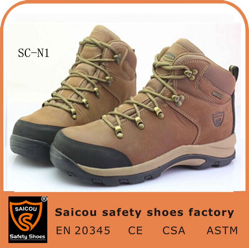 CE high ankle military boots factory and electro-static discharge safety footwear and steel toe inserts work shoes SC-N1