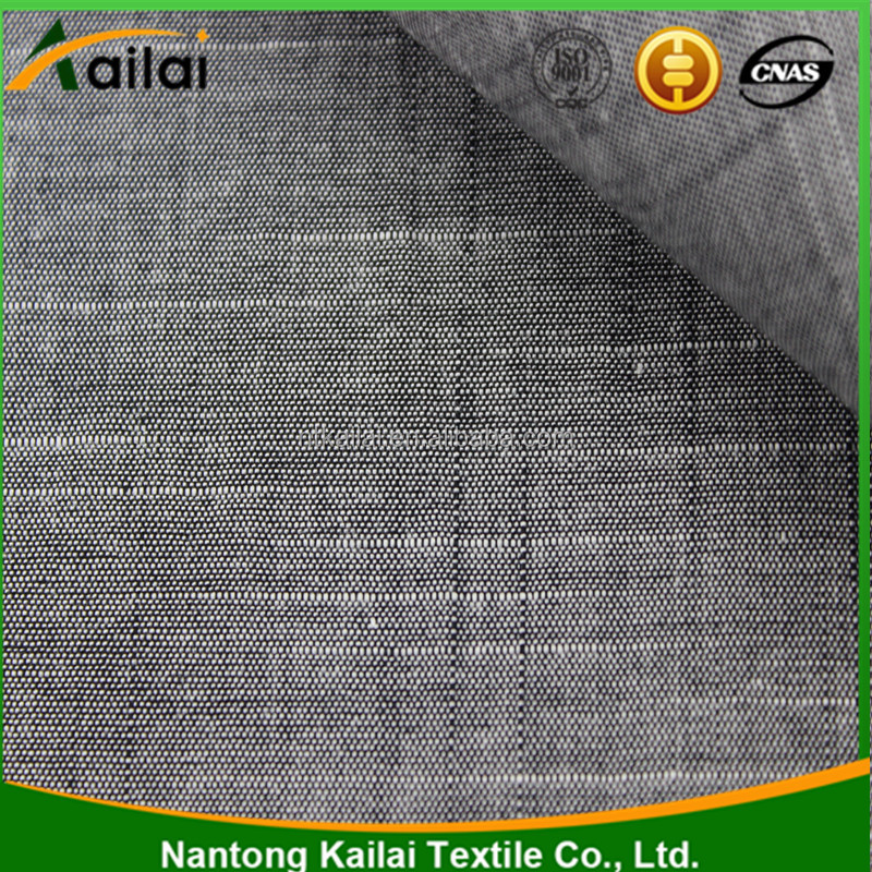 100% Cotton Yarn Dyed Bamboo/Slub Shirting Fabric