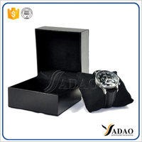 Customized different material with pillow black paper or wooden watch box