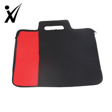 Professional business neoprene Waterproof laptop tote bag with trolley strap