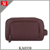 Stylish Handmade Leather Wash Bag with an outer zip pocket Men's Leather Toiletry Bag