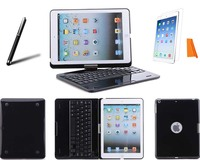 Bluetooth Wireless Keyboard w/ Clamshell Stand Hard Case Cover for Apple iPad Air iPad 5th