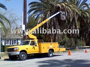 bucket truck Ford F450 40 Foot Aieral lift