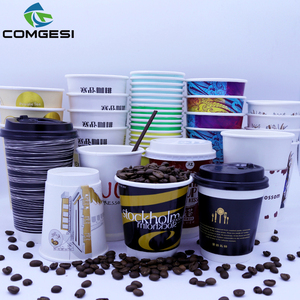 Disposable 16oz fashion design paper cup with lid and sleeve manufacturer logo custom printed eco paper coffee cup