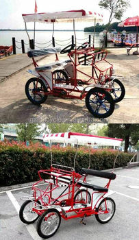 Red Four Wheels Bicycle