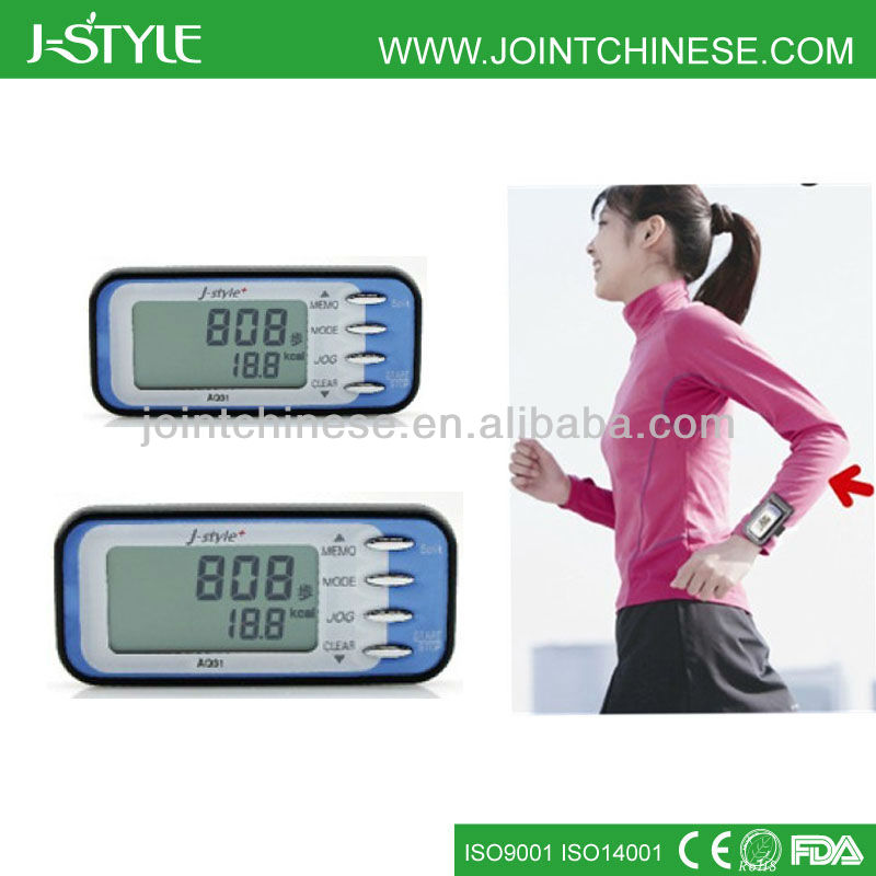 3D Sensor Walking And Jogging Pedometer Step Counter For Health