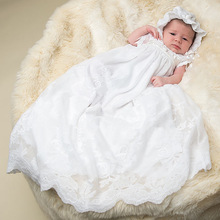Stunning Silk Romper Dress For Infant Off White Newborn Baby Holy Frocks Heirloom Christening Outfits Baptism