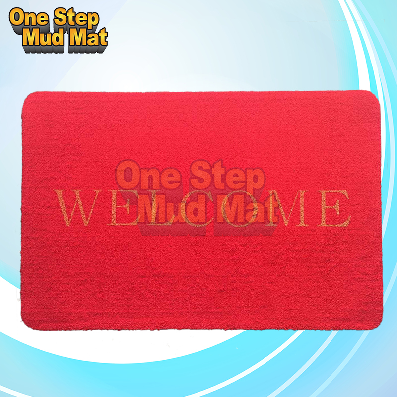 Outdoor Mat Company Welcome Logo Rubber Door Mat/Floor mat