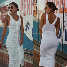 NS1562 New Fashion European Women Long Bandage Dresses Hot Knitted Sundress