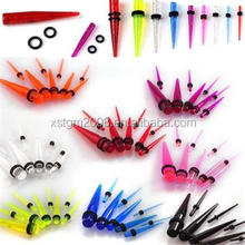 Fashionable ! Acrylic transparent sterilized stretching plug taper / expanders body piercing jewelry