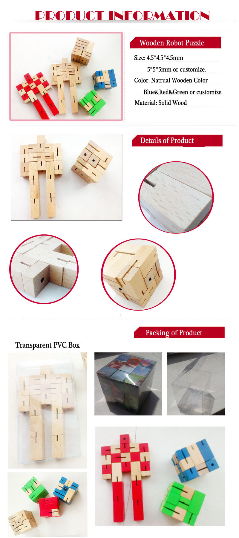 hot sale wooden robot toy,DIY robot with very cheap price wooden trans