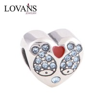 2014 New Fashion Design Love Fish Charms 925 Sterling Sliver Jewelry Fits European Style Bracelets Bangle DIY Making Wholesale Y