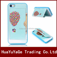 Hybird 2 in 1 TPU soft Wallet Stand Leather phone cases cover for Apple iphone 5 5S