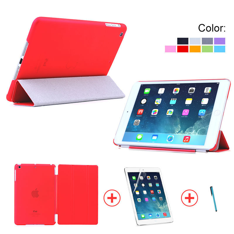 Case for ipad Mini 1/2/3, for iPad Mini 1/2/3 Smart Cover with PC cover