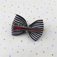 free sample hot sale cotton bridal hair barrettes