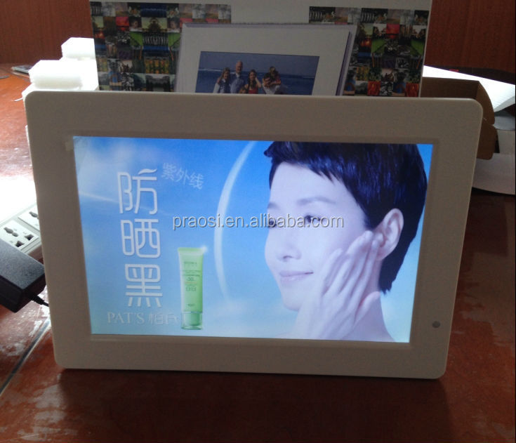 Ultra-thin 13 inch Desk standing HD LED Advertising Display for product promotion