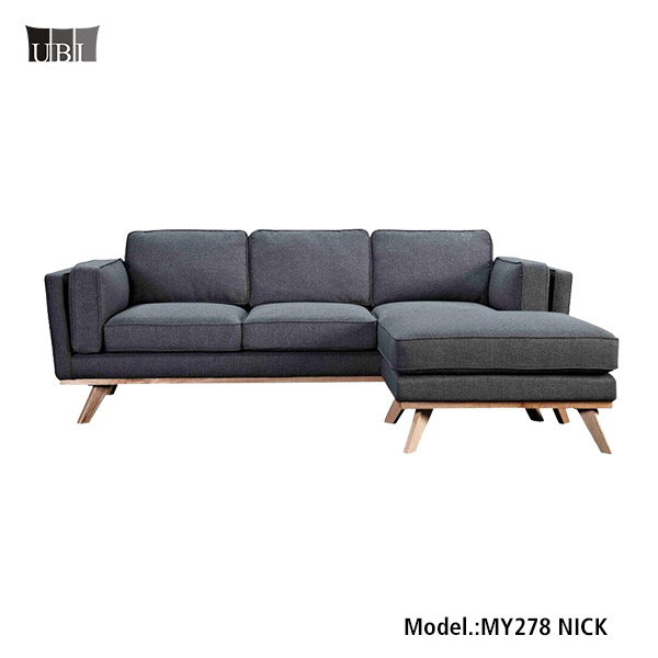 High Quality Living Room Fabric Sofa <strong>Furniture</strong> with Ottoman MY278