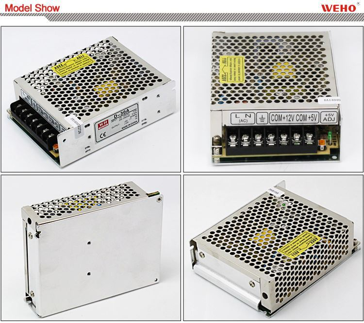 Best price 30W Dual output switching power supply 5v 24v dual output power