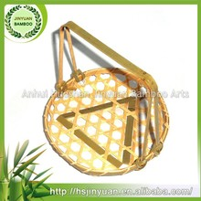 Solid bamboo basket