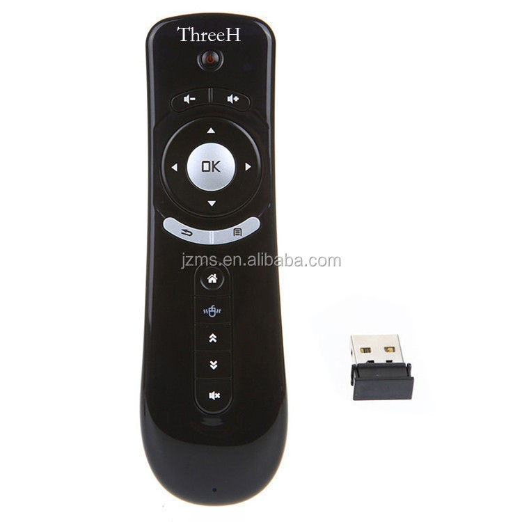 T2 android Remote 3d wireless air mouse with 6-Axis Gyroscope Accelerometer sensors remote controller