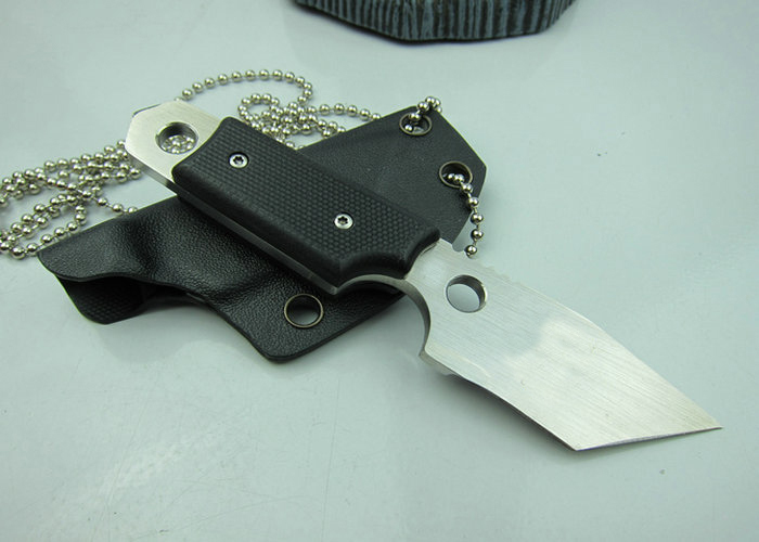 OEM mini tactical survival knives fixed blade hunting knife outdoor tool hand D2 59HRC blade G10 handle K sheath 1599