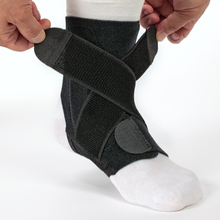 Antimicrobial compression adjustable neoprene Ankle Support with stabilizer straps