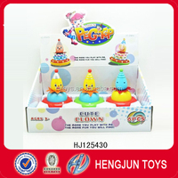 the clown peg-top plastic cartoon toys from shantou factory