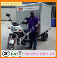 Closed body type Refrigerator Cooling Box Cargo Motor Tricycle three wheel motorcycle motor three wheeler