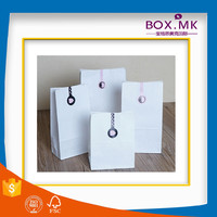 High Quality White Handmade White Kraft Paper Grocery Bag Without Handle
