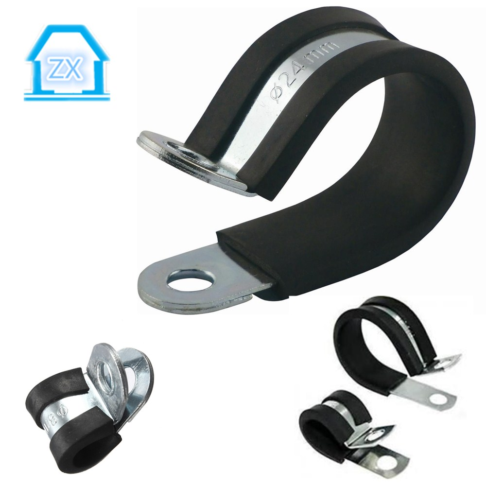 W4 304ss rubber sleeve pipe clamp