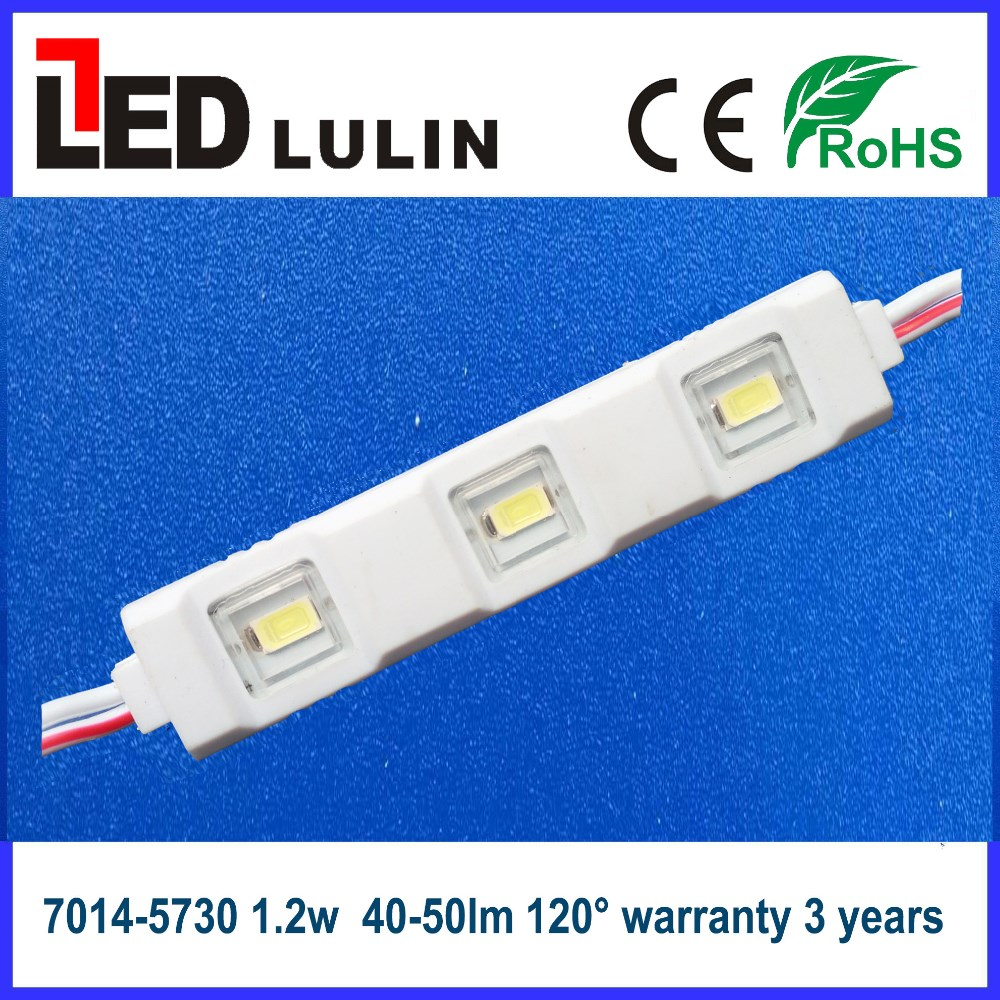 Samsung 5730 led module/ injection module 3 chips (CE ROHS approved ) for led channel letter signs